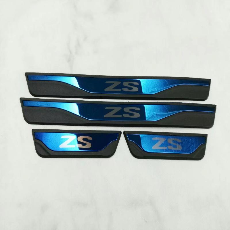 Car-Styling Styling For Mg Zs 2017 2018 Car Accessories Stainless Steel Door Sill Trim Scuff Paltes Protector Guard Car Stickers