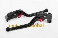 For TRIUMPH TIGER 800 XC XCX XR XRX 2016 CNC Black Long Clutch Brake Levers Adjustable