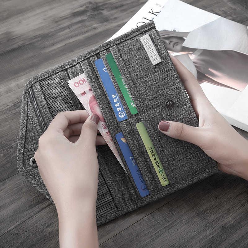 2019 Fashion Multifunction Travel Organizer Slim Wallets For Women Portable Passport Covers Credit Card Holder Bag Handle Wallet