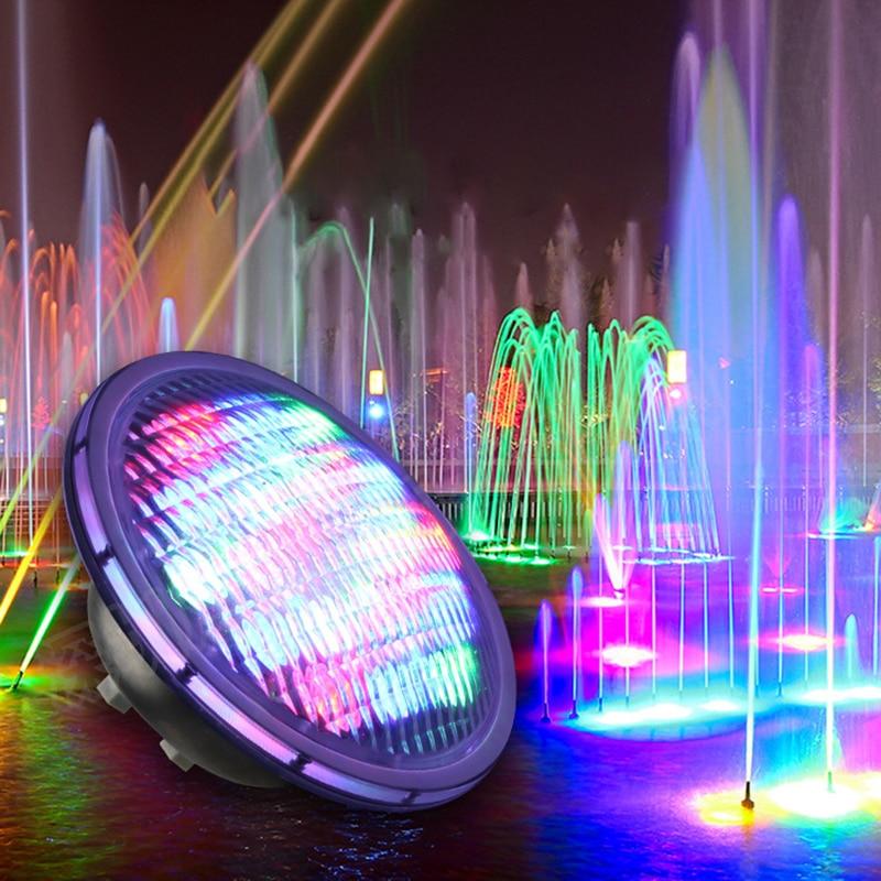 Lumières sous-marines 18 w 24 w LED RGB PAR56 LED Piscine Lumière 12 v Couleur Multicolore Fontaine Piscina Blanc Chaud blanc froid