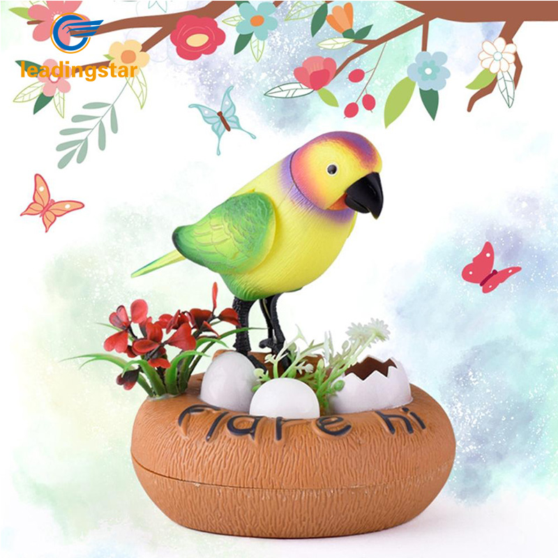 LeadingStar Simulation Toys Birds Creative Voice Control Parrot Funny Children Electric Vocal Singing Birds Stall Toys zk40