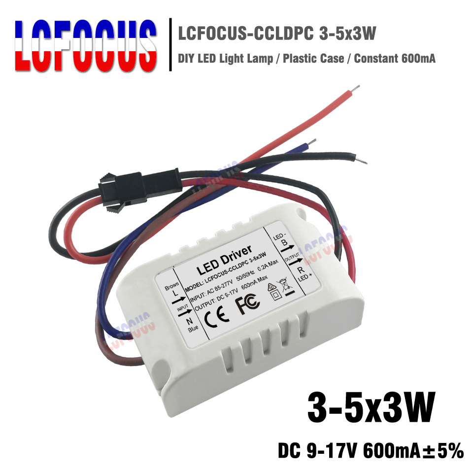 Hot Sale 3 5x3w Led Driver Lighting Transformers Constant Current Building Simple Power Do It Easy With 600ma 12 26v 9 15 W Watt Supply For Diy Lamp Spotlight