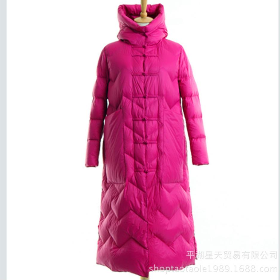 Delle Caldo Cappotto Black Con Camel Rivestimento 2019 dark Vintage Outwear Cotone Parka Inverno rose green Donne Imbottiture Di Del Femminile red Lungo Cappuccio x7X66pq