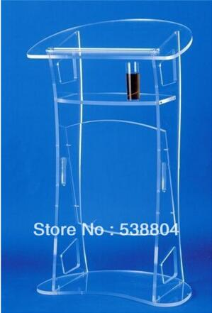FREE SHIPPING Pulpit Acrylic Acrylic Cheap Table Lectern Free School Free Plexiglass Podium / Lectern Perspex / Clear Tribune