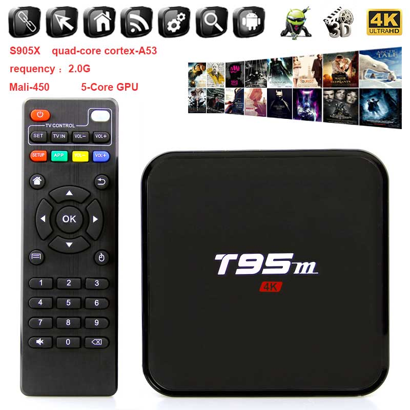 Smart TV Box Android 7.1 Amlogic S905X 2GB 8GB Quad Core Media Player Pre-installed 4k WiFi Set Top Box