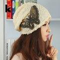 2017 Новая Мода Осень И Зимние Шапки Для Женщин Шапочки Бабочка Капот Тюрбан Hat Gorro Cap Женская Skullies Балаклава Шляпы