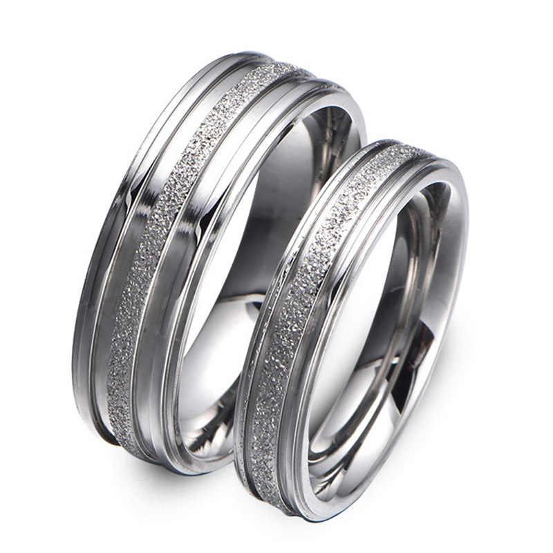 ขายคริสตัลสีเงินรอบ Zircon คู่แหวน Lovers 'ผู้หญิงผู้ชายแหวนของขวัญ
