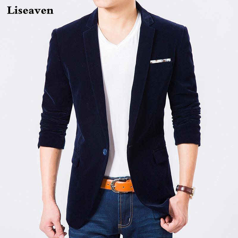 Liseaven Blazers Men's Jacket Casual Blazer Plus Size M-7XL Autumn Winter Coat Men's Clothing