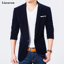 Liseaven Blazers Mens Jacket Casual Blazer Plus size M 7XL Autumn Winter Coat Mens Clothing