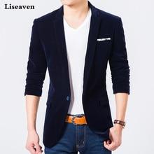 Liseaven Blazers erkek Ceket Rahat Blazer Artı boyutu M 7XL Sonbahar Kış Ceket erkek giyim