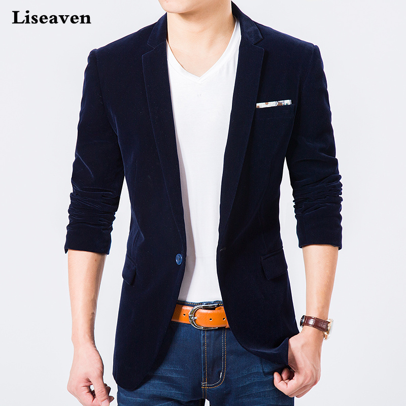 Liseaven Blazers Men's Jacket Casual Blazer Plus size M-7XL Autumn Winter Coat Men's Clothing
