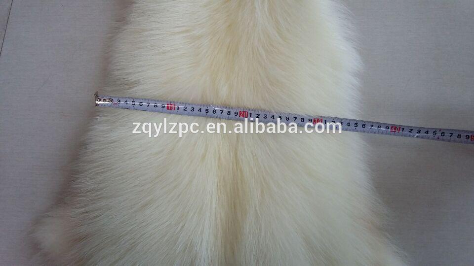 Peau de fourrure de raton laveur blanc peau de fourrure de raton laveur réelle - 6