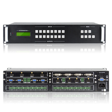 High performance Modular Matrix Switcher 8x8 with Audio,Support for HMDI DVI VGA SDI and HDBaseTetc all signal input and output