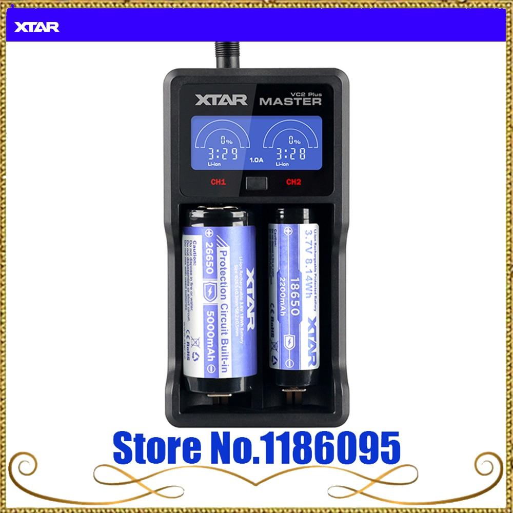 <font><b>XTAR</b></font> VC2 Plus Smart Universal LCD Screen Display Battery Fast <font><b>Charger</b></font> for 10440/16340/14500/14650/17670/18350/18500/18650