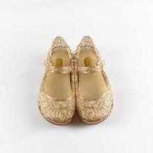 Mini melissa cristal chaussures 2017 filles sandales maille trou chaussures filles melissa sandales de gelée chaussures sandales chaussures pour filles 15-18 cm