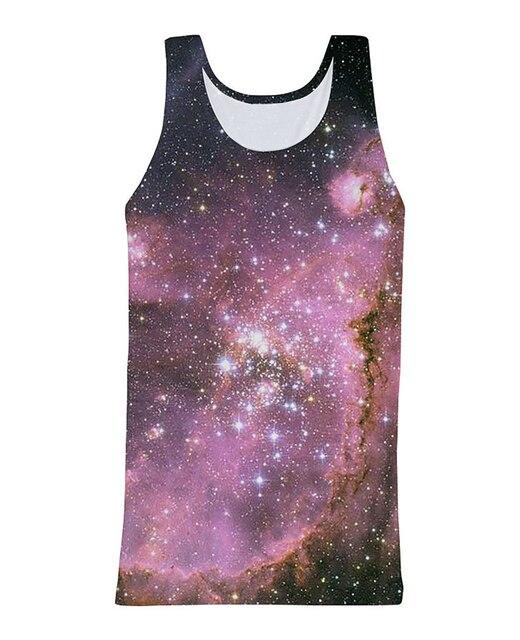 RuiYi Сексуальная 3 galaxy Майка удивительный galaxy star 3d печати Летом Стиль Жилет Джерси Рубашка Для Женщин Мужчин