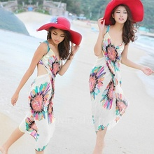 1 pc Female Deep V Wrap Chiffon Swimwear Bikini Cover Up Beach Shawl Scarves Dress Hot