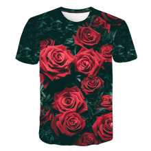2019 New Spring Beautiful Flowers Print Casual T-shirt Men/Women Summer Tees Quick Dry 3D Tshirts Tops Fashion