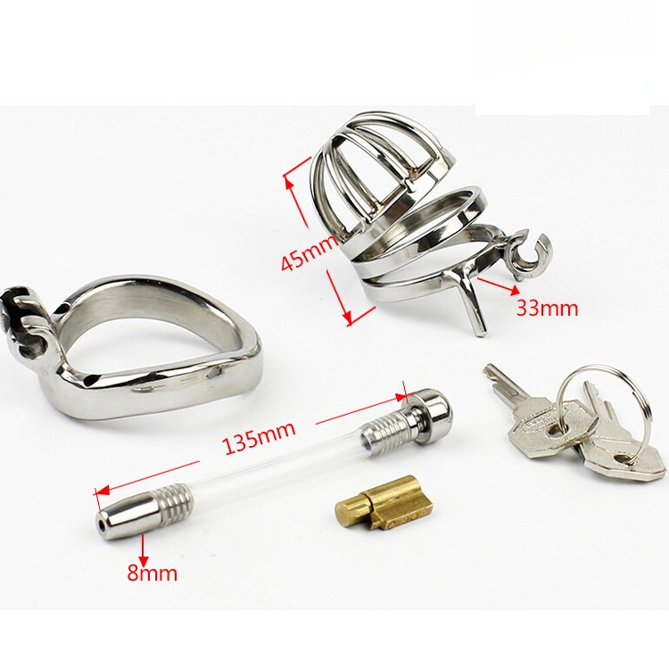 Male-Stainless-Steel-Cock-Cage-Penis-Ring-Chastity-Device-catheter-with-Stealth-New-Lock-Adult-Sex (3)
