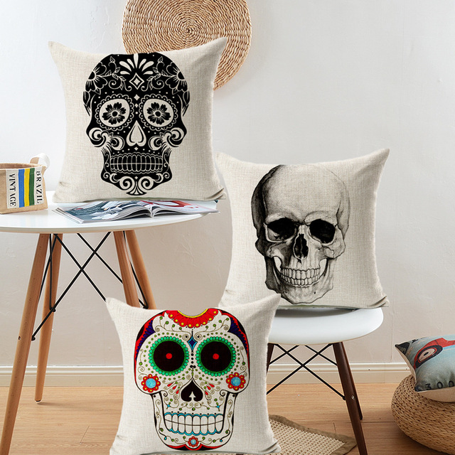 Image result for stylish skull cushions settings