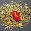 Rhinestones del clavo 3d forma redonda etiqueta engomada del clavo de uñas para uñas suministra encantos 100 unids/lote sobre 5 mm