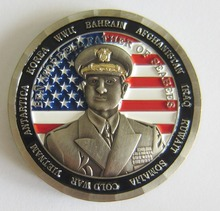 Fashion Cheap Custom 3D Silver Metal Round Military Challenge Coins for Promotion Gift