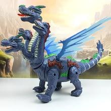 Динозавры 53 см в большом размере Свет Проекция вверх светящийся динозавр электронный Ходьба робот-Динозавр Модель Детская игрушка подарок