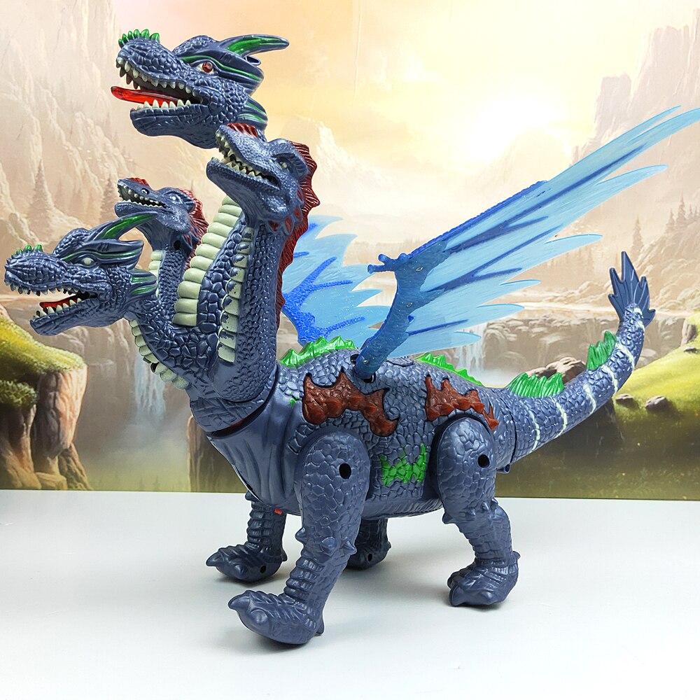 Dinosaures 53cm en grande taille lumière Projection Up dinosaure lumineux électronique marche Robot dinosaure modèle enfants jouet cadeau