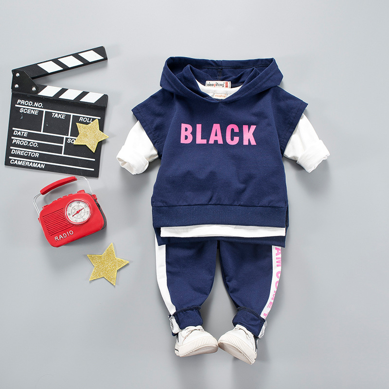 Clothing Sets Boys' Clothing Baby Boys Girls Clothes Set Fashion Costume Casual Cheap Kids Sport Letter Hooded Suits Long Sleeve Children Tracksuit Coat