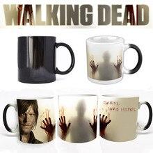 The Walking Dead Serie Kaffeetasse Tasse Einen Toten-Lebend Person Mark Farbwechsel Tasse Sensitive Keramik Tee La Copa Freunde geschenk