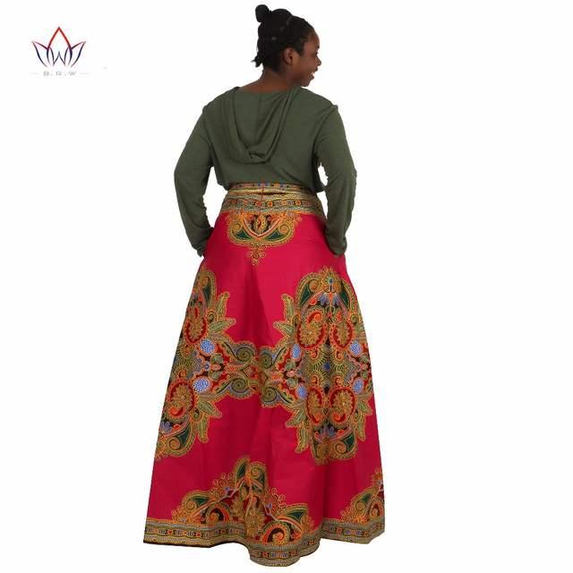 db4a80dba9b0d African Skirts for Women Long African Skirts Maxi Skirt Retro Fashion  African Clothes Faldas Largas Estampadas