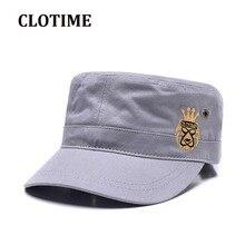 CLOTIME sombrero algodón sombrero de marinero para los hombres y las  mujeres gris parte superior plana boina vendedor gorra de c. e6338e1c766