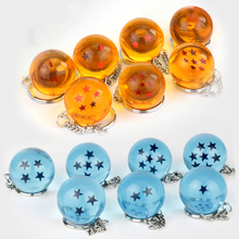 где купить 2.7cm Dragon ball Z Crystal 1-7 Stars Balls Keychain Goku Dragonball Action Figures Toys Car Key Chain Ring Styling Tool Gifts 6 дешево
