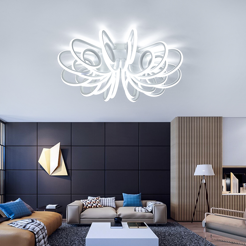 Image 4 - NEW Modern LED Chandeliers For Living Room Bedroom Diningroom Fixture Chandelier Ceiling lamp Dimming home lighting luminarias-in Chandeliers from Lights & Lighting