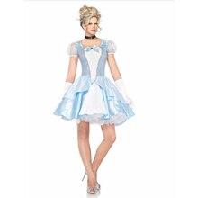 VASHEJIANG Costume de princesse blanche neige pour adultes, Costume de cendrillon, pour la fête dhalloween, jeu de rôle pour adultes