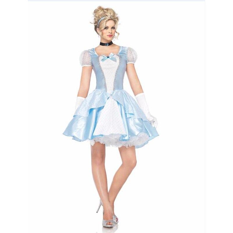 VASHEJIANG Kigurumi Snow White Princess Costume Adult Cinderella Role play Adult Princess Cinderella Costume for Halloween Party
