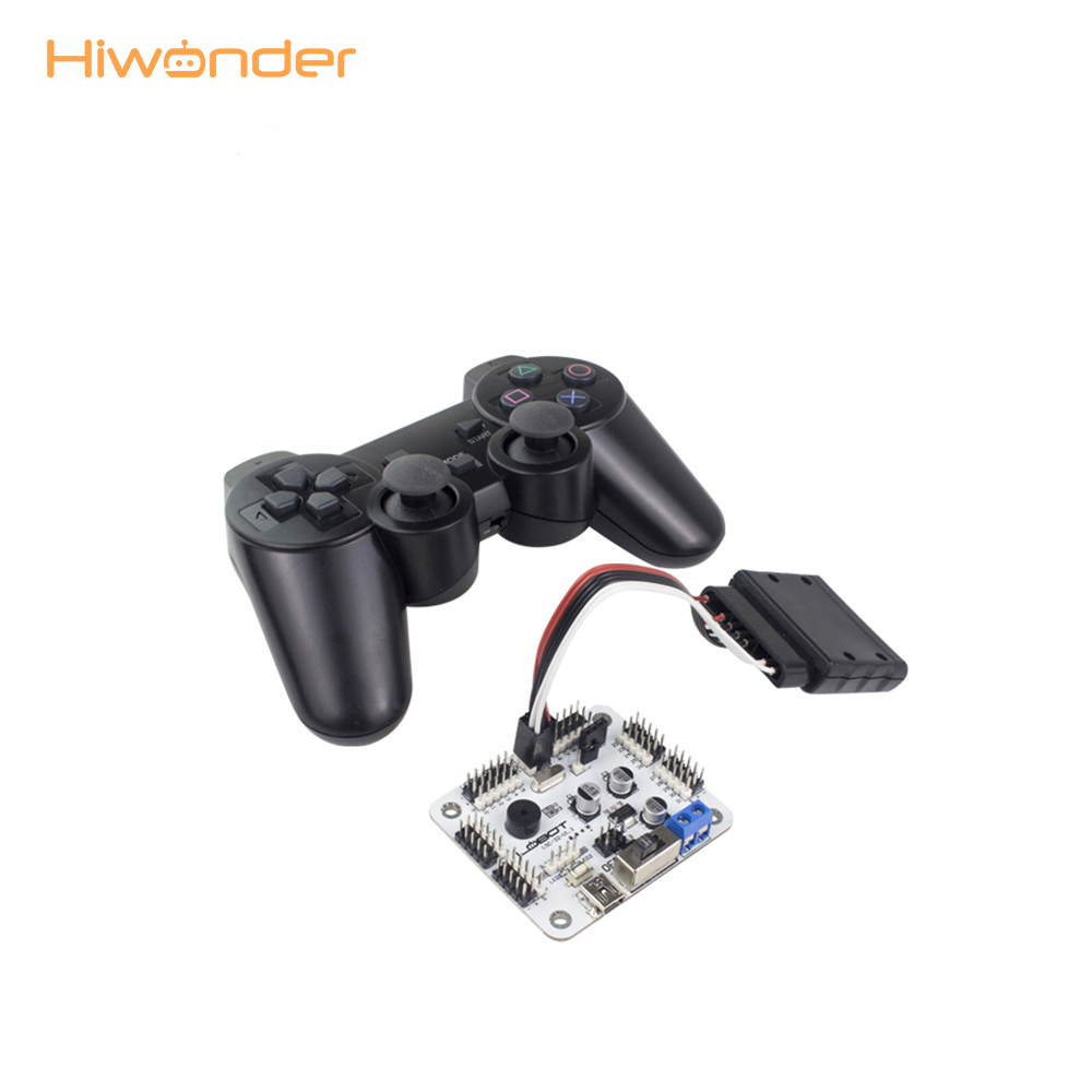 Hiwonder Servo Controller 32 CH Board with PS2 Handle Controller Receiver for Hexapod Bipedal RC Parts