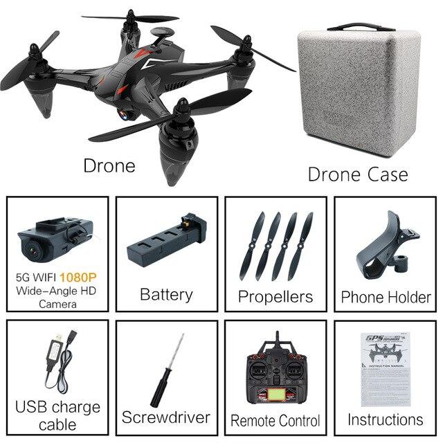 RC складной Дрон gps с HD камерой RC Квадрокоптер с широкоугольной камерой RC вертолет с высоким режимом удержания игрушки для детей# E - Цвет: 1080P with Case