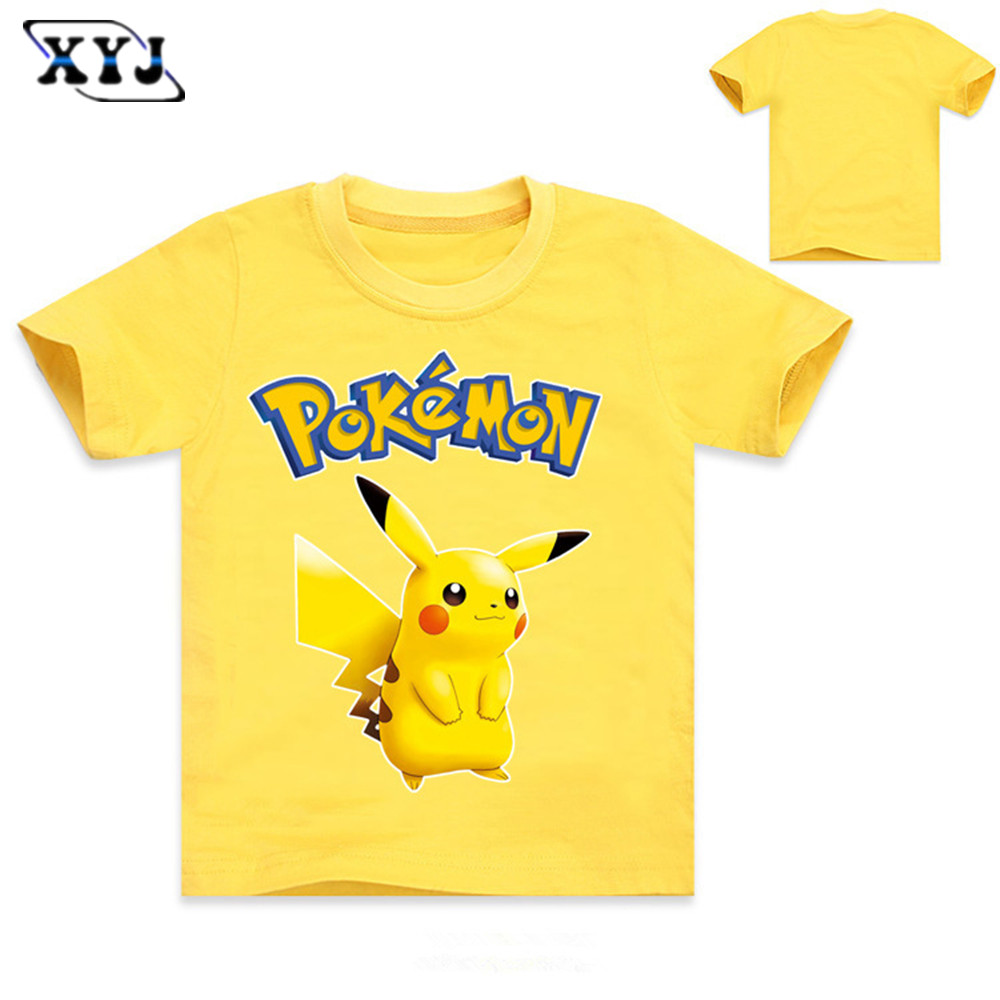 Ital tees bass culture and sound system clothing - 2016 World S Hot Mobile Game Pokemon Go Logo Priting Cotton Tee Shirt Kids T Shirt Pokemon