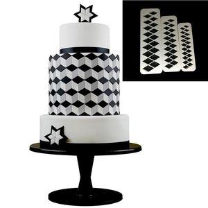 Image 4 - 3pcs כיכר גיאומטרי Cutters יצק קוקי קאטר גיאומטריה עוגת עובש פונדנט תבנית אפיית 6 עיצובים