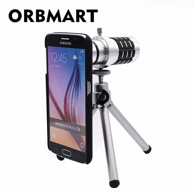 ORBMART Aluminium 12X Optisches Zoom Teleskop Kameraobjektiv Für - Handy-Zubehör und Ersatzteile