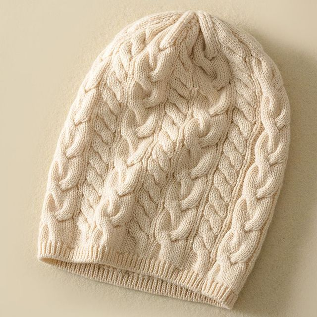 Simple Solid Blend Soft Fine Knittted Wool Hat Beanies