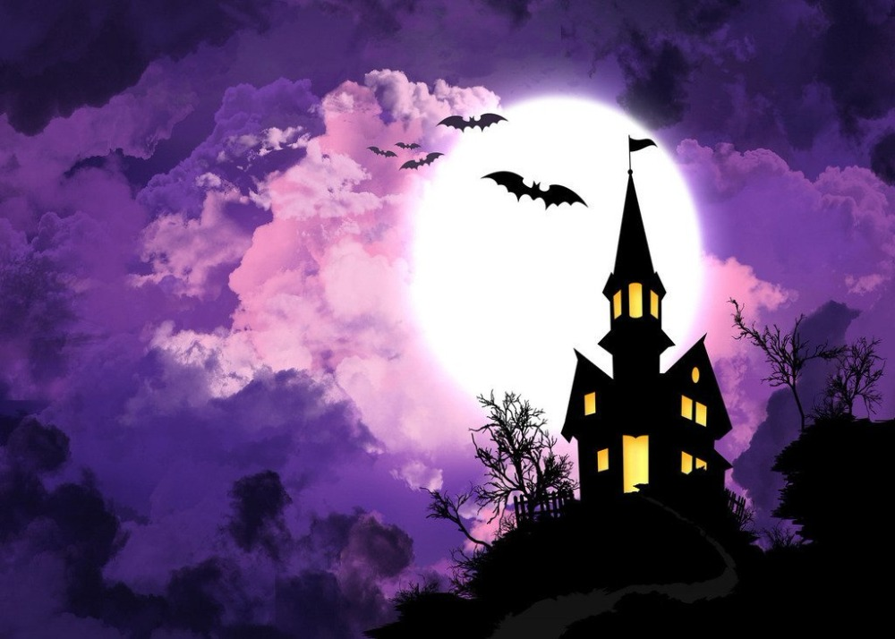 Image 2 - DePhoto Photography Backdrops Castle Bat Halloween Magic Children Party Photocall Baby Backgrounds for Photo Studio-in Background from Consumer Electronics