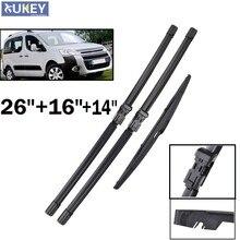 Xukey-escobillas de limpiaparabrisas delanteras y traseras para Citroen Berlingo, 26