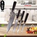 QING 67 Lagen Staal Koken Tools Zwart Houten Handvat Hoge Taaiheid VG10 Damascus Messen 3.5