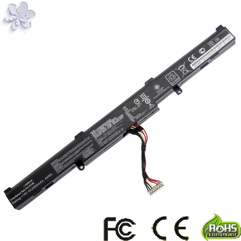 New 15V 2950mAh 44Wh A41-X550E X550E Battery For Asus X450 X450E X450J X450JF X751M X751MA-DB01Q X751MA laptop battery for asus x552 x552cl x552e x552ea x552ep x552l x552ld x552vl x552la 15v 2950mah 44wh li ion oem