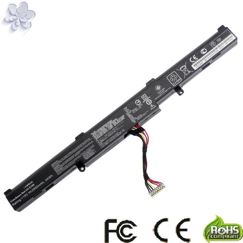 New 15V 2950mAh 44Wh A41-X550E X550E Battery For Asus X450 X450E X450J X450JF X751M X751MA-DB01Q X751MA 4 cell a41 x550e battery for asus r752lj r752ld r752lb r752m r752l r751j x751m f450e x450e x450 x550 x550e x751l x751m page 9