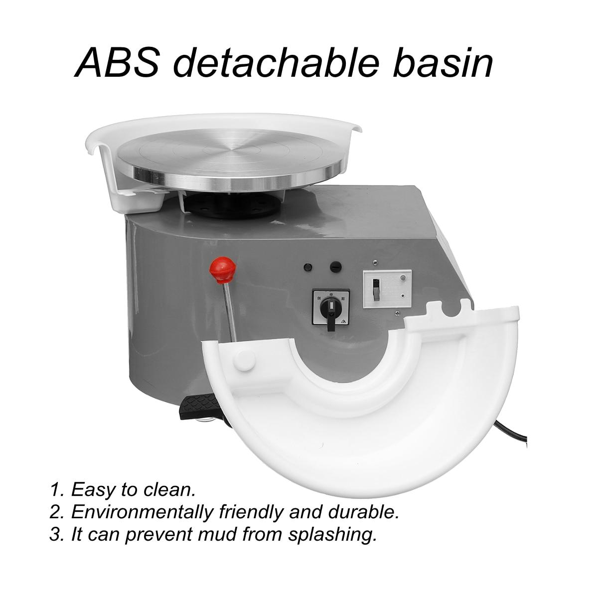 Tournant la Machine en céramique de roue de poterie électrique 110 V 350 W 300mm Kit de potier en céramique d'argile pour la céramique de travail en céramique - 4
