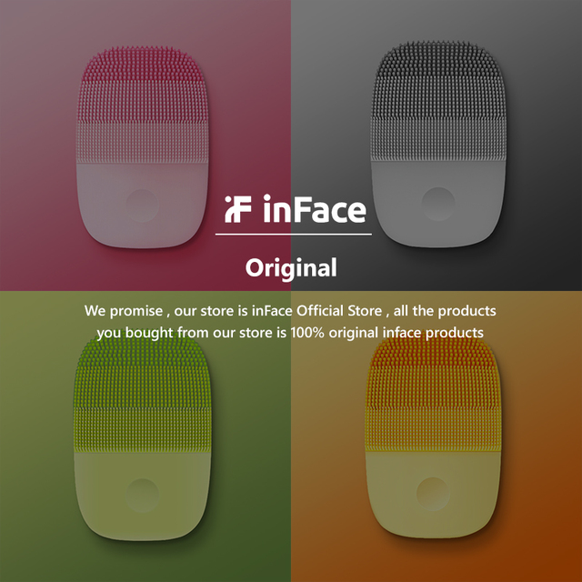 InFace Official Facial Cleaning Brush Face Skin Care Tools Waterproof Silicone Electric Sonic Cleanser Beauty Massager