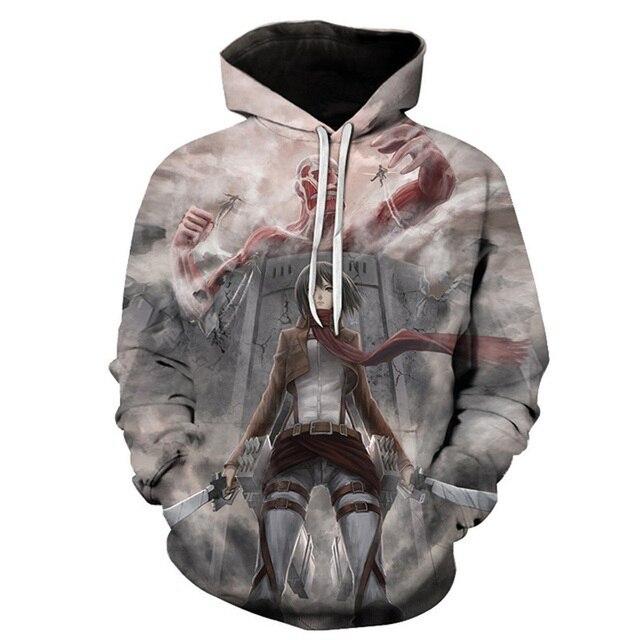 ff8b8644 US $28.25 |Anime Attack on Titan Hoodie Pullover Eren Jaeger Mikasa  Ackerman Zipper Coat Tops Hoodies Sweatshirt-in Hoodies & Sweatshirts from  Men's ...